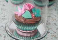 Cupcakes de chocolate con leche