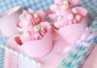 Cupcakes rallados de chocolate blanco