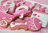 Galletas de bebé rosa fuerte