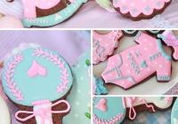 Galletas de bebé rosa y azul