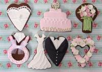 Galletas de boda en rosa
