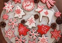 Galletas Navidad blanco y rojo