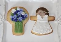 Galletas boda violeta