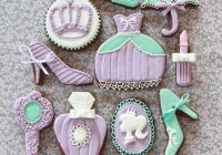 Galletas de princesa violetas