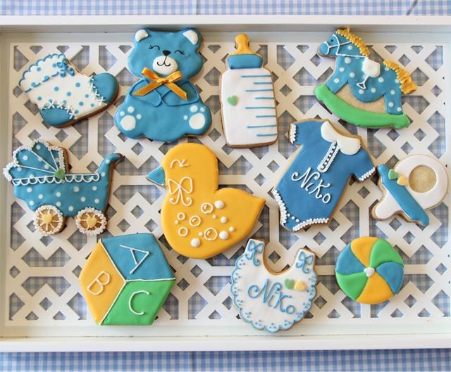 galletas de bebe azul fuerte