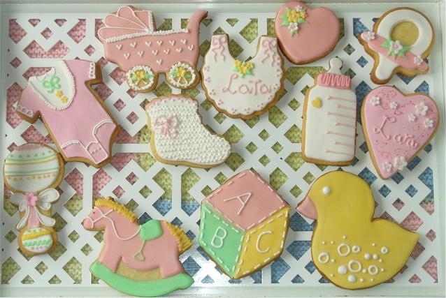 galletas de bebé rosa