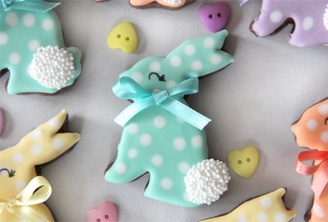 Galletas conejo de chocolate