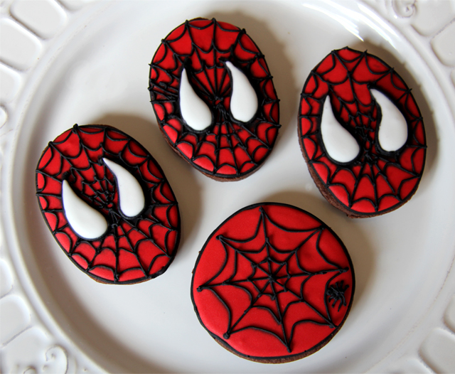 Galletas de spiderman y vacas