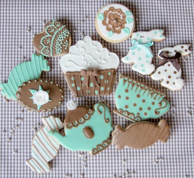 galletas juego de té