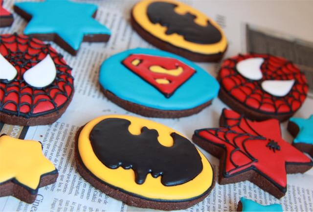 galletas de superhéroes