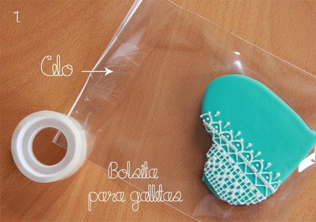 Galletas corazón y washi tape