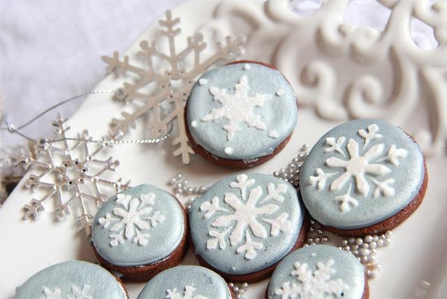 Galletas navidad con stencil