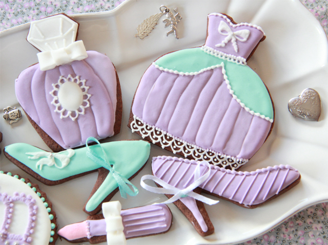 Galletas de princesa violetas