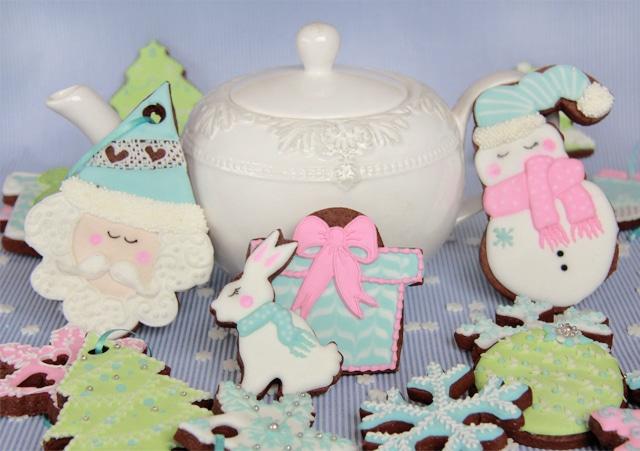 Galletas de Navidad en tonos pastel
