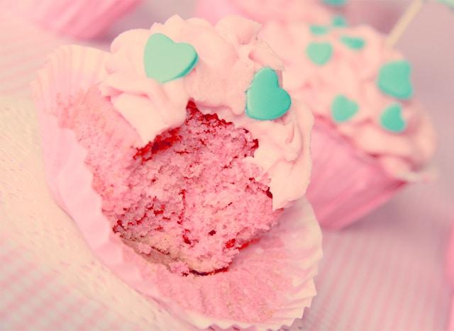 Cupcakes Nesquik de fresa