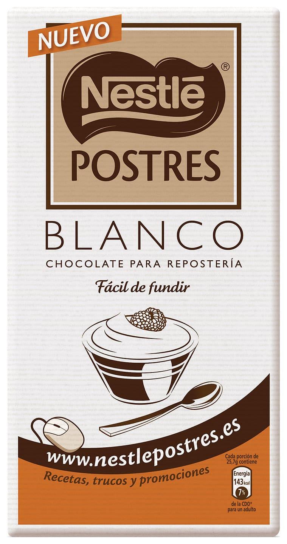Baño Blanco Reposteria: blanco (yo uso el de la marca Nestlé especial para repostería