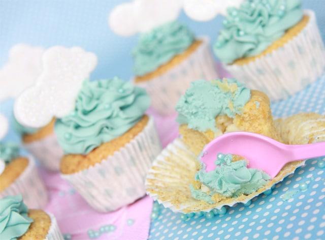 cupcakes de chocolate blanco