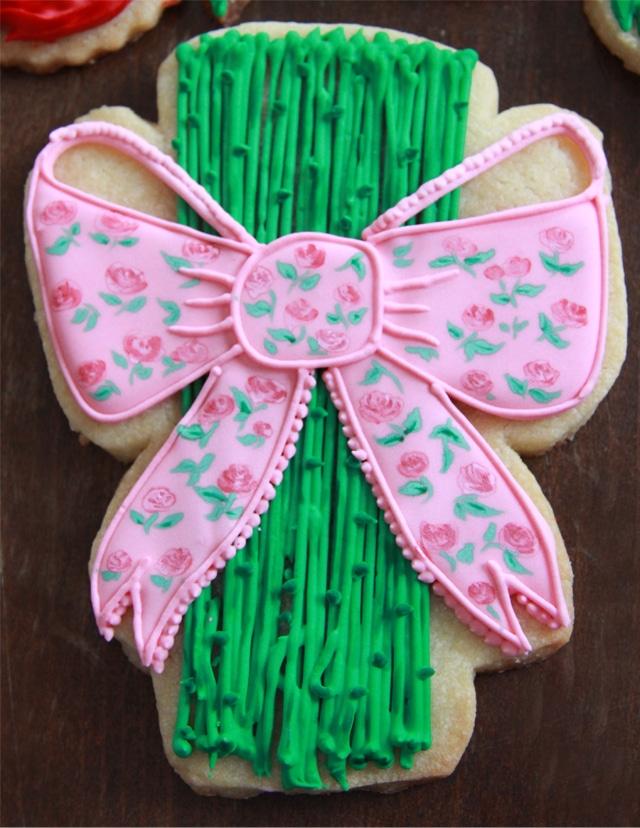 Galletas San Valentín: ramo de rosas