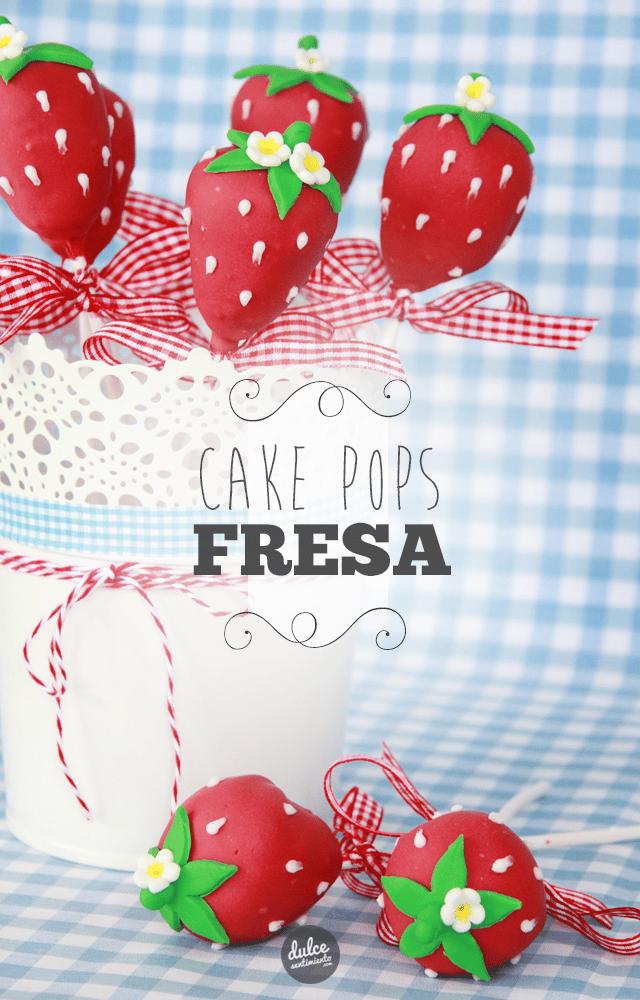 Cake Pops de Fresas