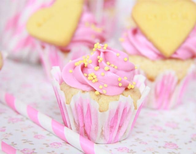 Mini Cupcakes de frambuesa y limón