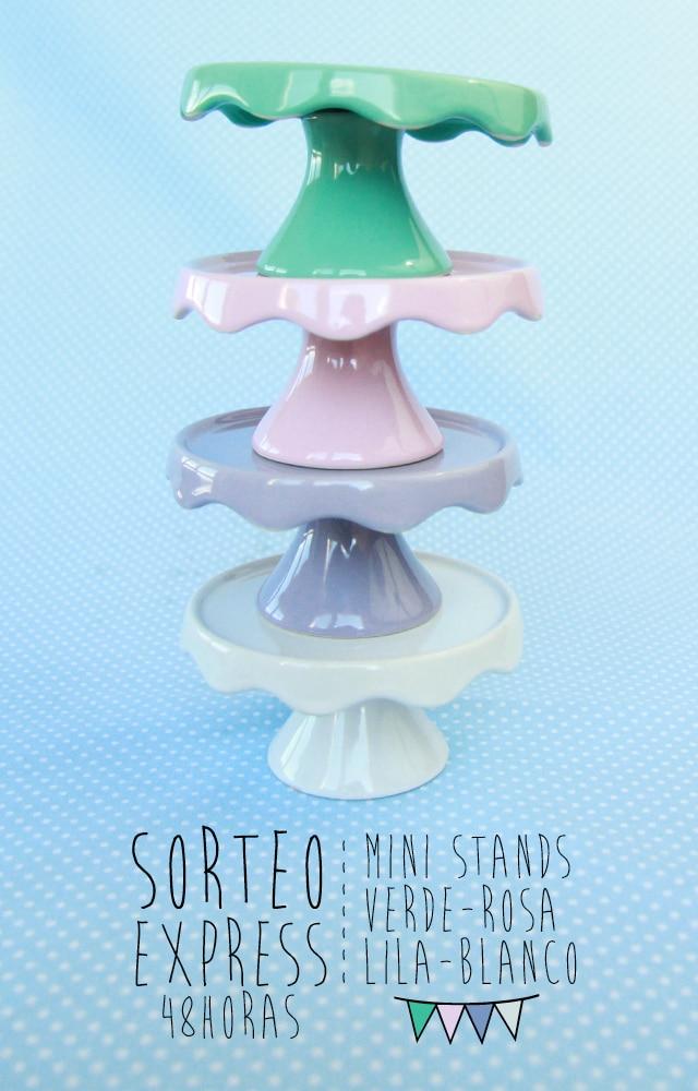 Sorteo Express: 4 mini stands de colores