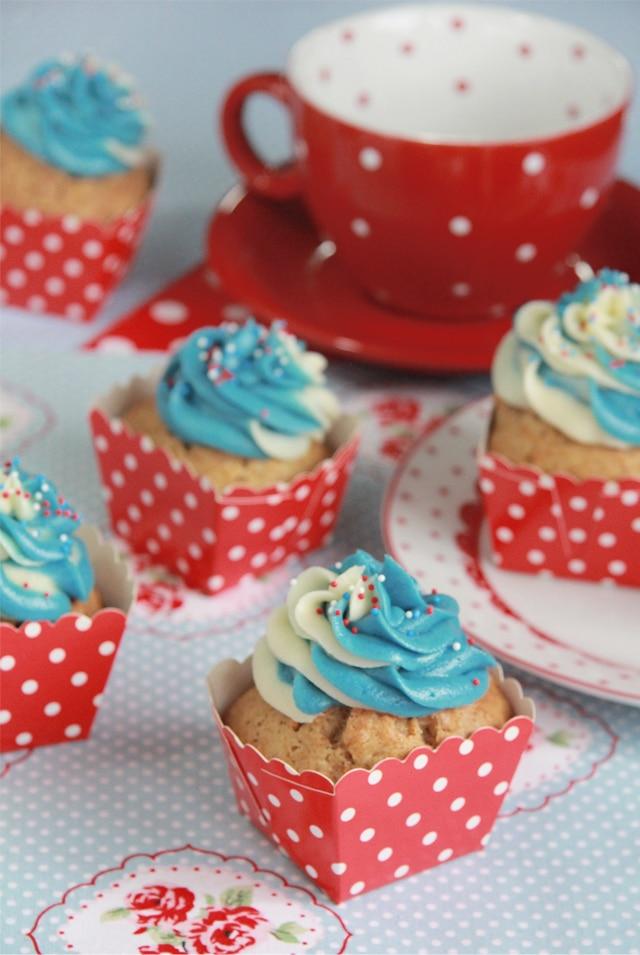 Cupcakes bicolor