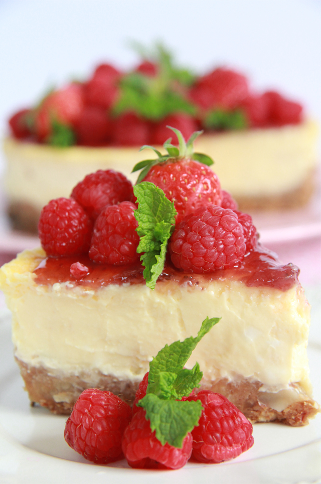 New York Cheesecake. Receta suave y cremosa