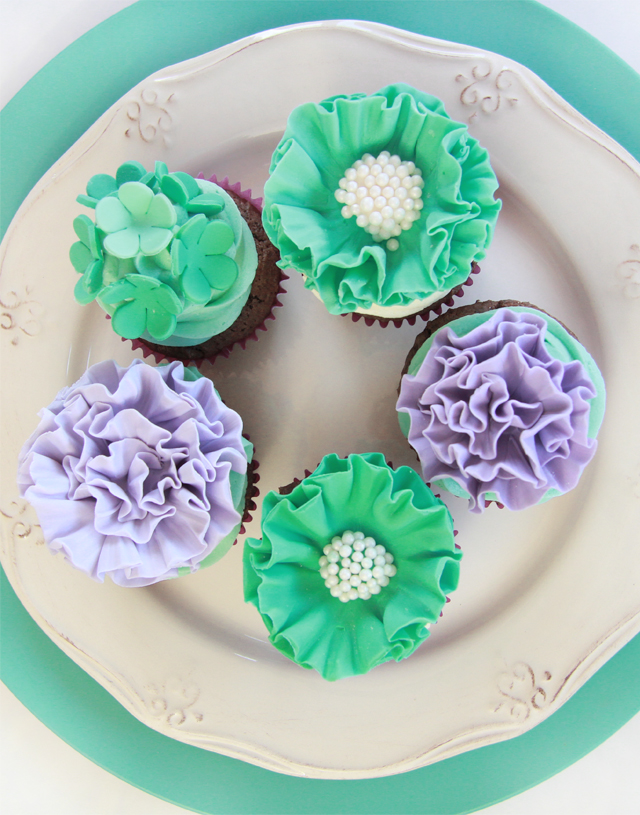 tutorial cupcakes pompom