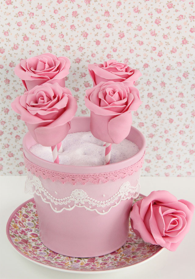 Cake Pops de rosa videotutorial