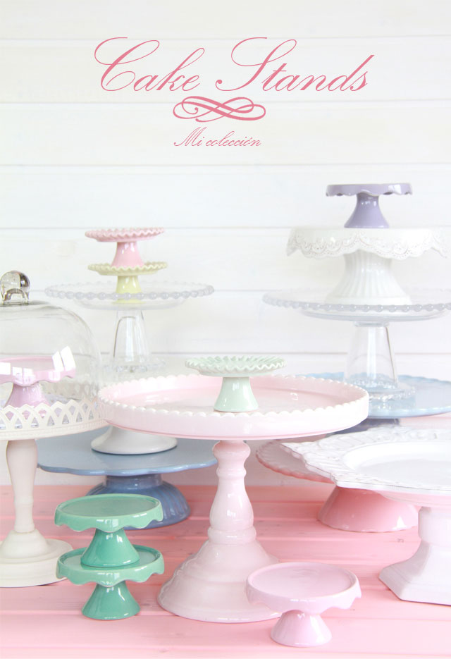 Mi colección de Cake Stands