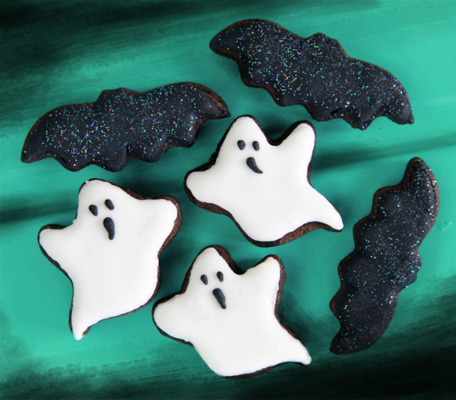 Galletas blanco y negro para Halloween
