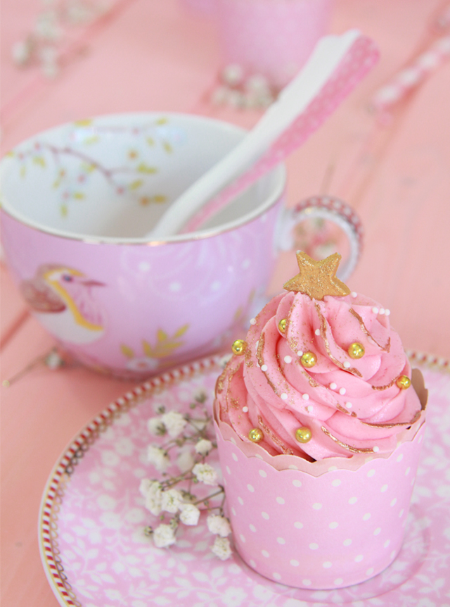 Cupcakes color rosa