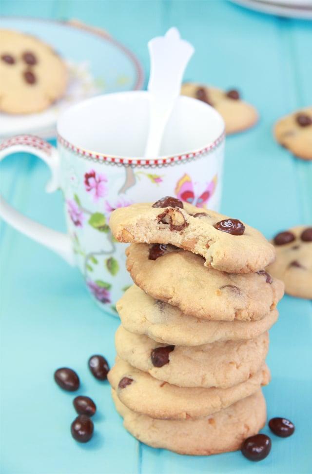 cookies de cacahuete y conguitos