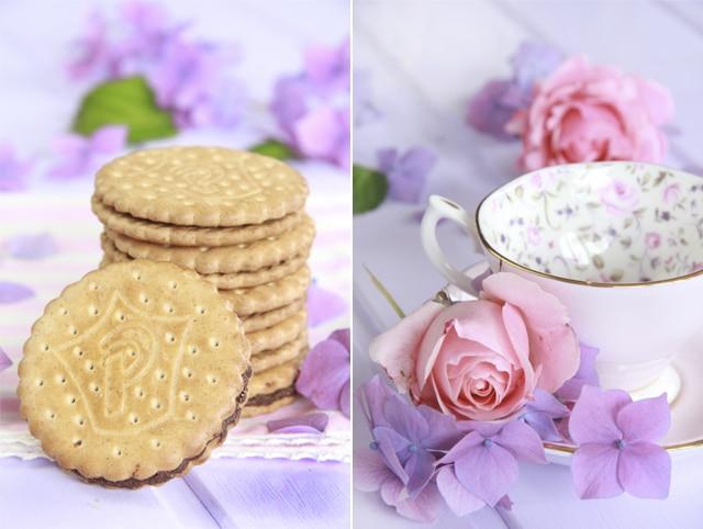 Tarta de queso fría con galletas Príncipe