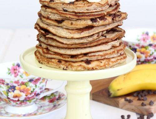 Tortitas de plátano y chocolate