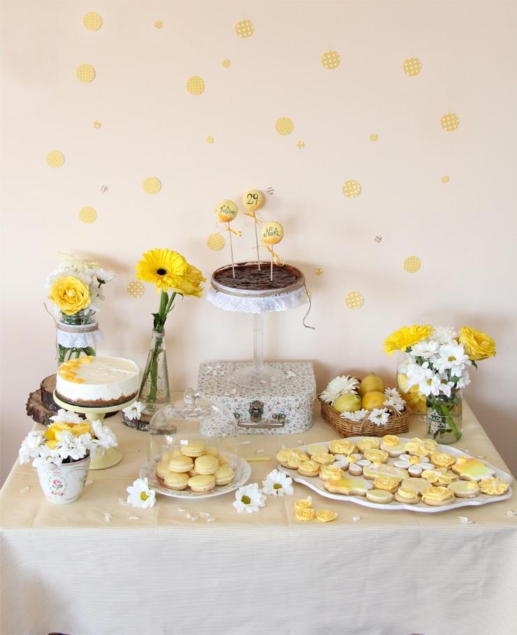 Mesa dulce amarillo