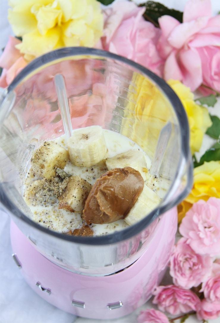 Batido de plátano y crema de cacahuete