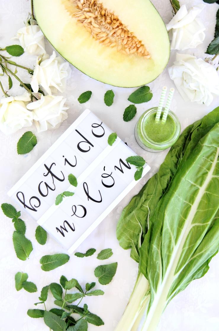 Batido verde de melón