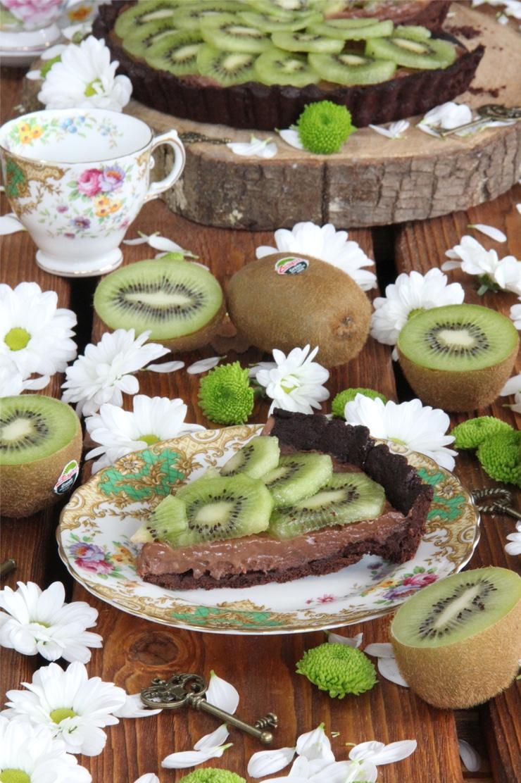 Tartaleta de chocolate y kiwi Zespri Green