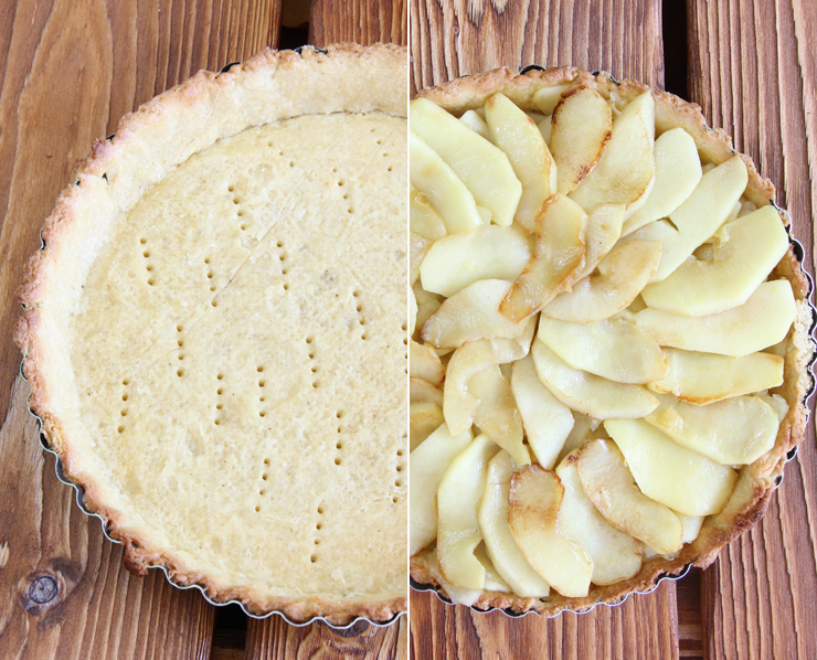 Tarta de manzana y toffee